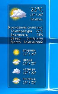 Моя погода - гаджет погоды на русском для windows 7, windows 8.1 и windows 10